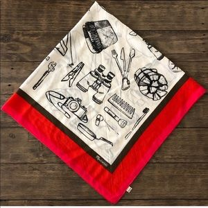 Madewell Square Summer Camp Scarf Hike Outdoors OS
